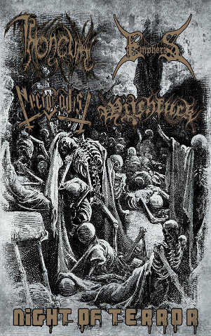 throneum / necrosadist / empheris / witchfuck – night of terror [split]