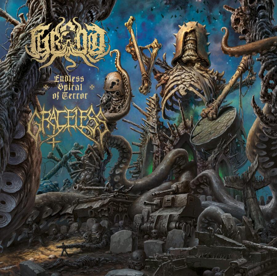 grond / graceless – endless spiral of terror [split]