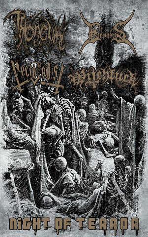 throneum / necrosadist / empheris / witchfuck – night of terror [split]