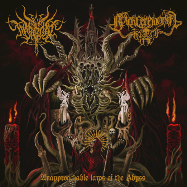 wargoat / black ceremonial kult – unapproachable laws of the abyss [split]