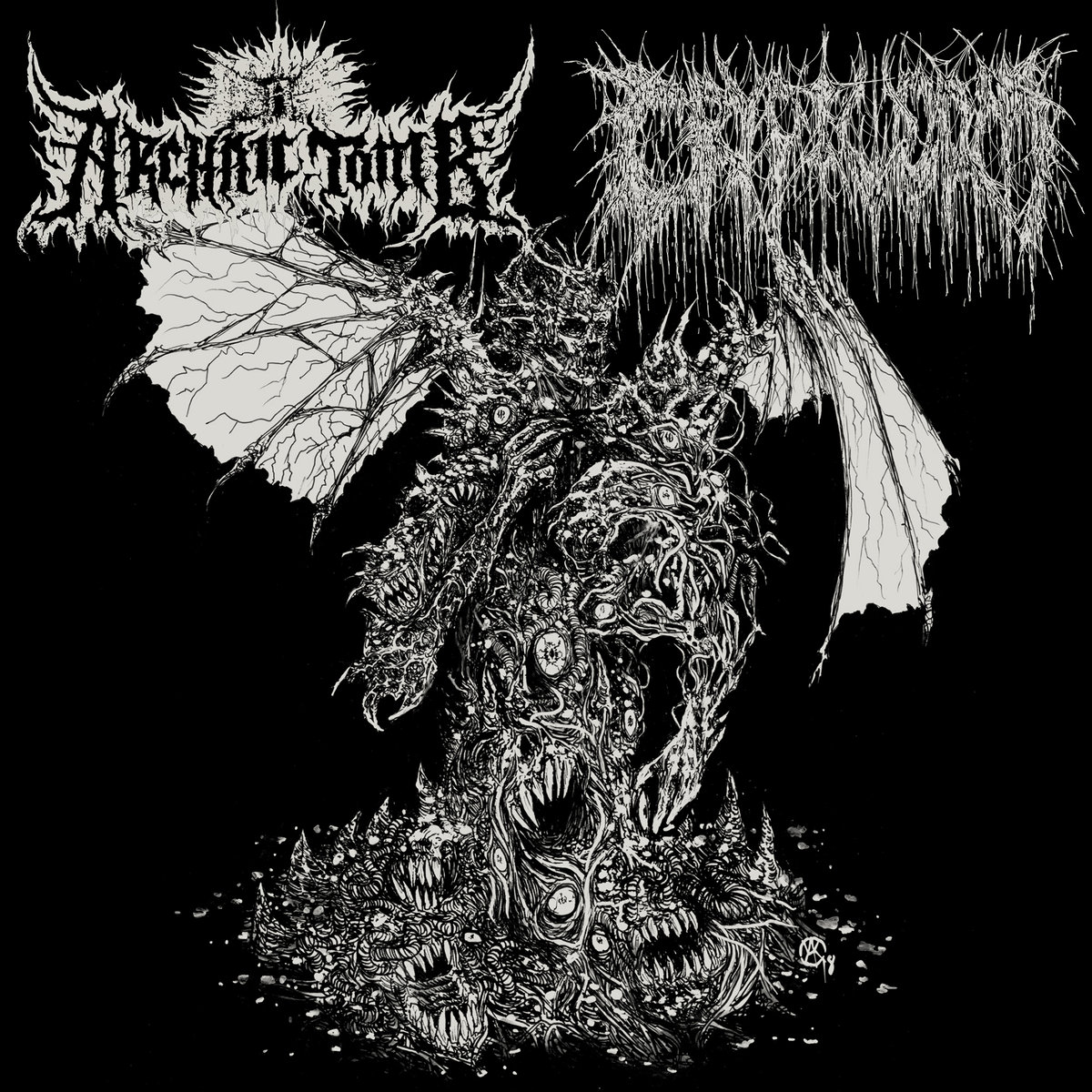 archaic tomb / cryptworm – persecution paraphrenalia / putrefactive regurgitation [split]
