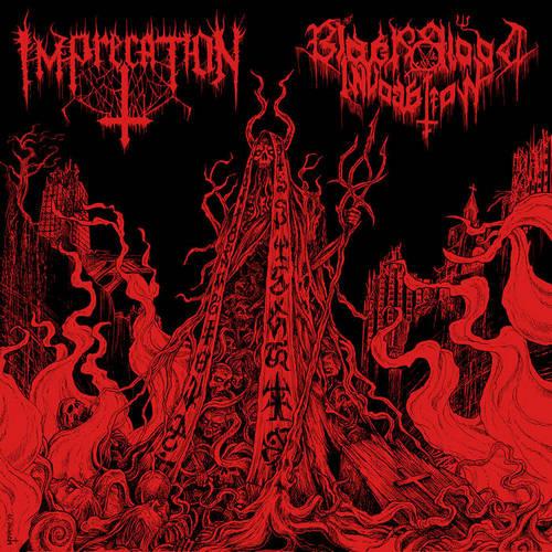 imprecation / black blood invocation – diabolical flames of the ascended plague [split]