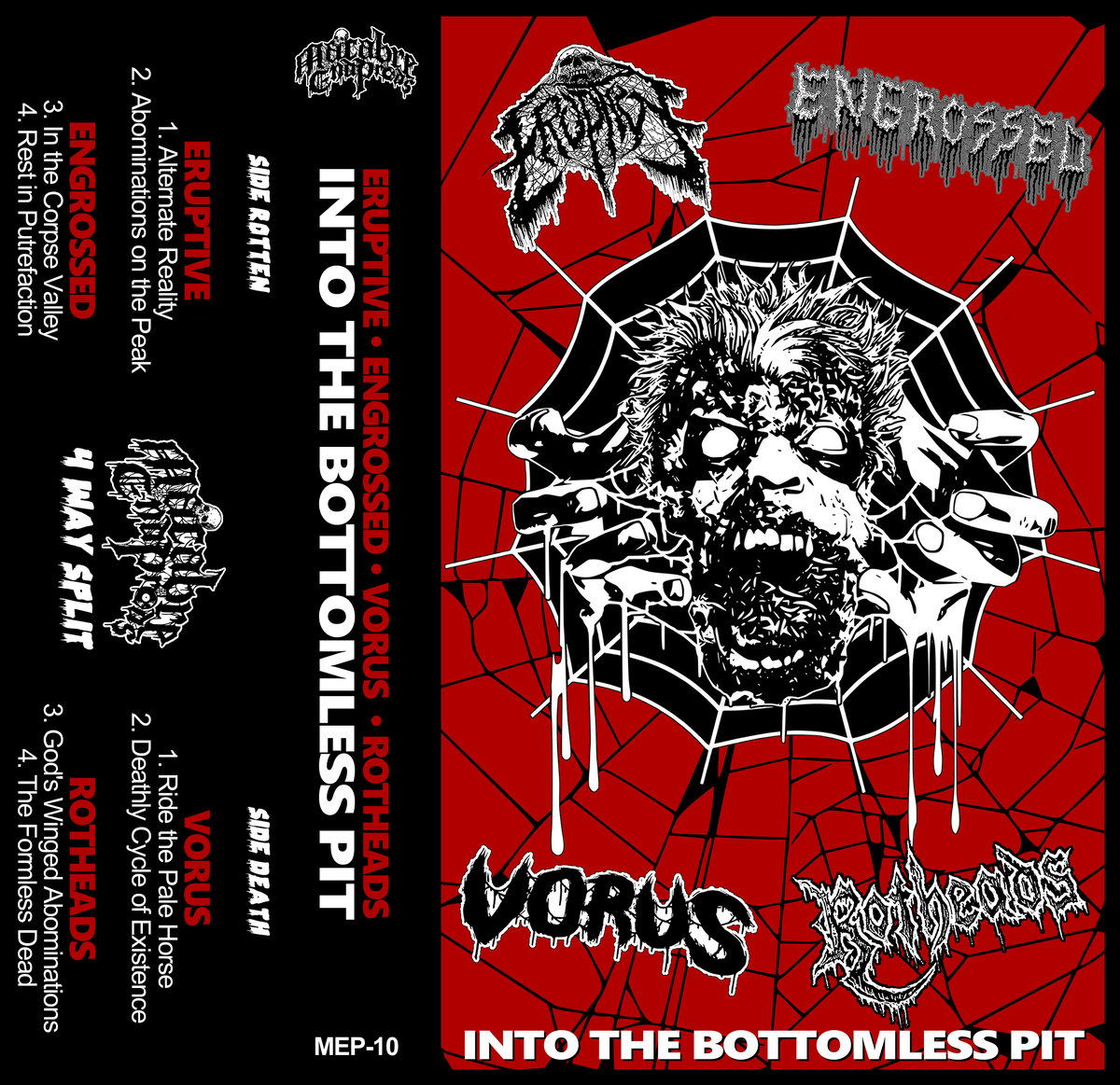 eruptive / engrossed / vorus / rotheads – into the bottomless pit [split]