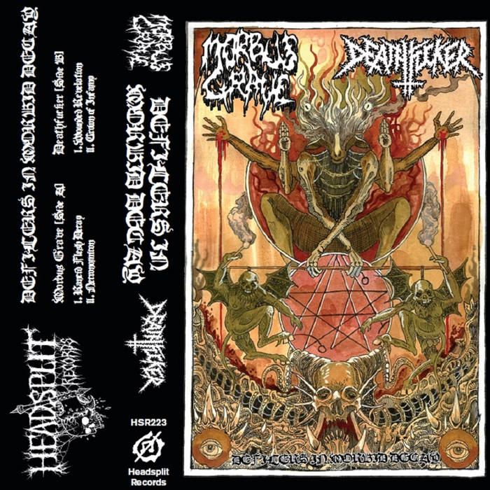 morbus grave / deathfucker – defilers in morbid decay [split]