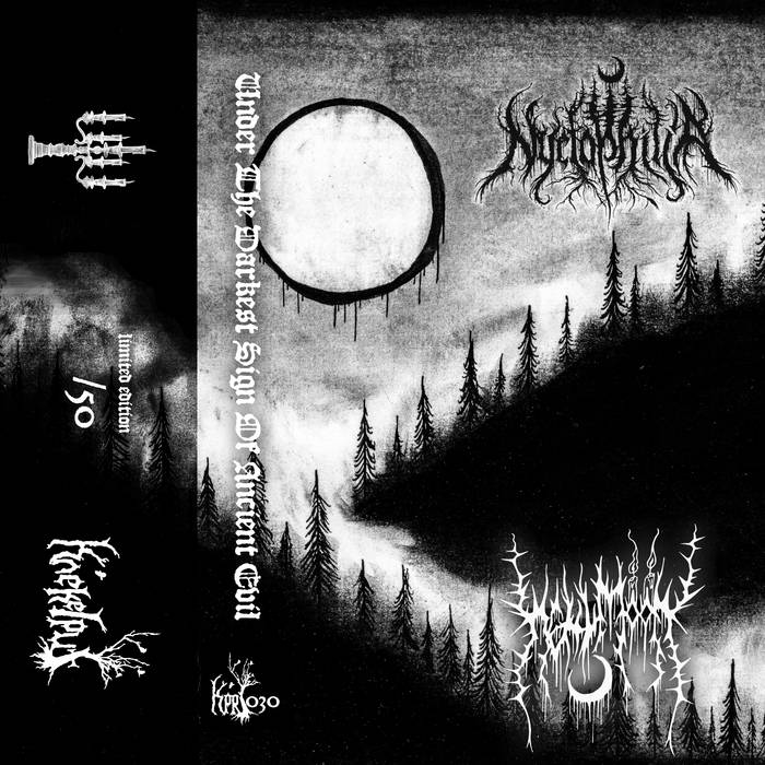 nyctophilia / hellmoon – under the darkest sign of ancient evil [split]