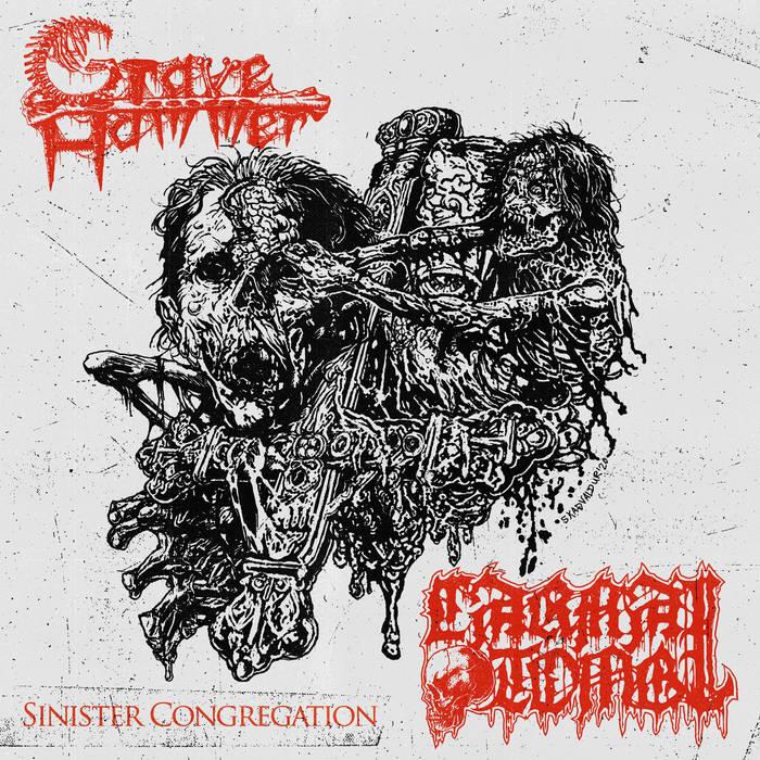 carnal tomb / gravehammer – sinister congregation [split]