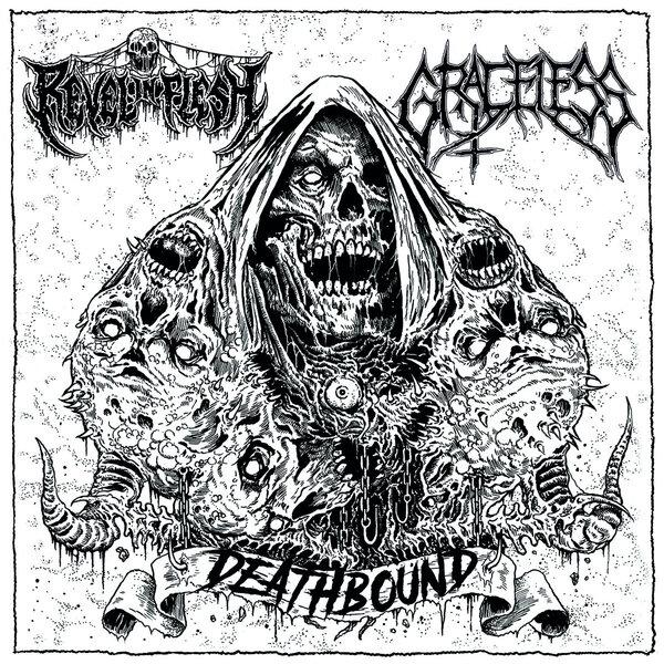 revel in flesh / graceless – deathbound [split]